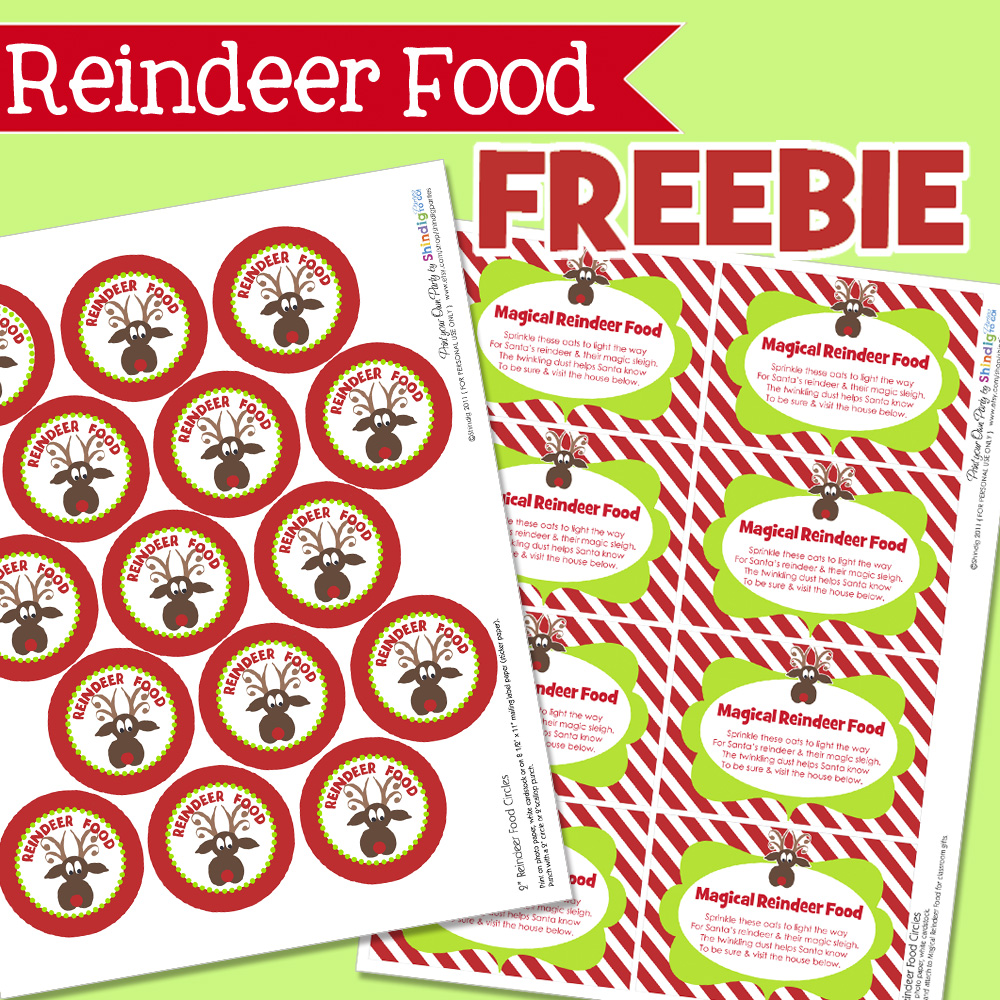 picture relating to Reindeer Food Labels Printable known as Amandas Get-togethers In direction of Transfer: No cost Reindeer Foodstuff Tags