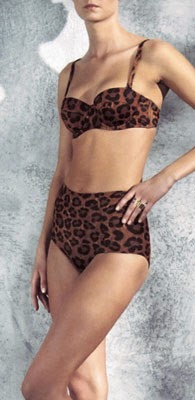 bikini print leopardo H&M