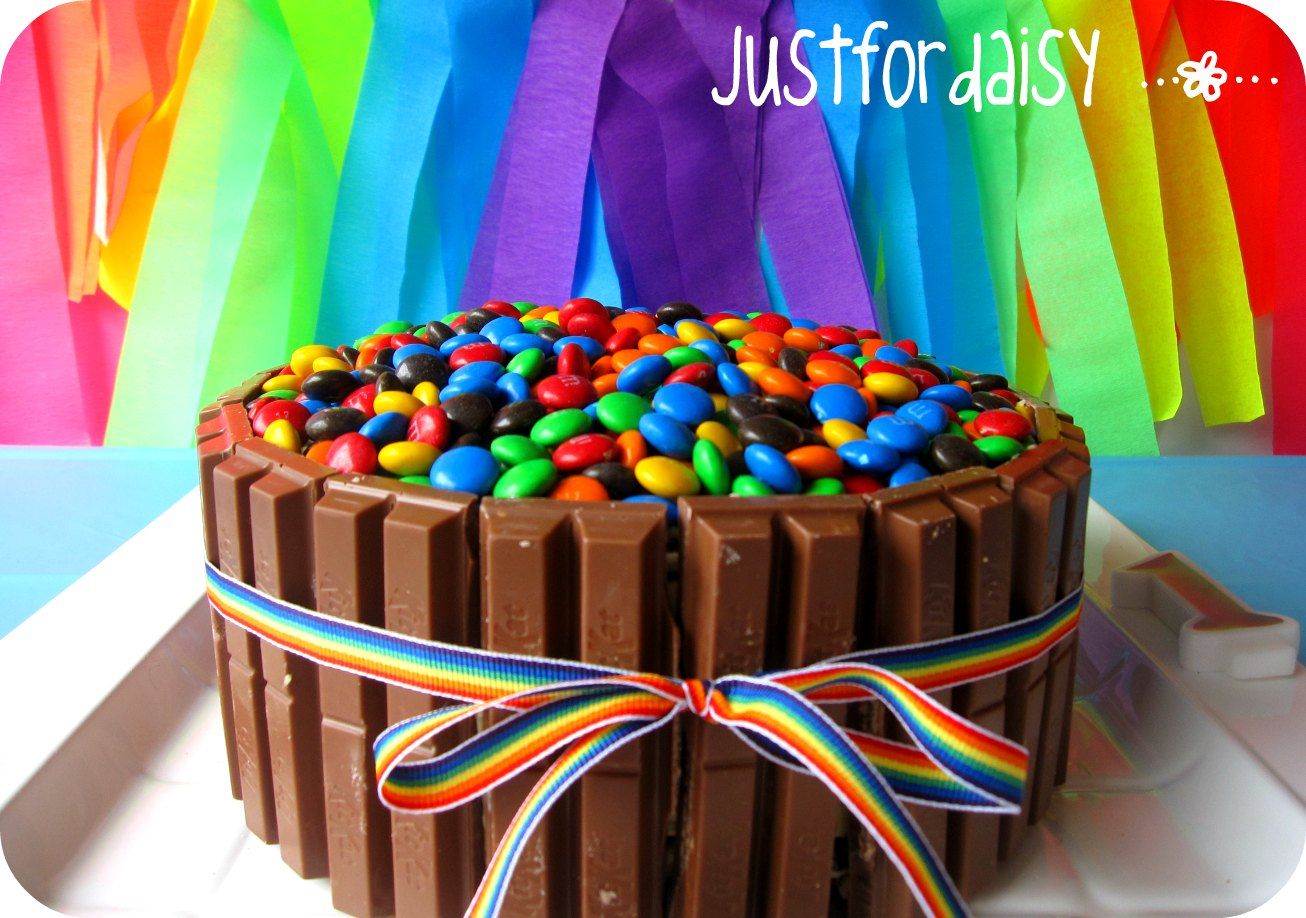 justfordaisy: Rainbow Layer Cake - My way!