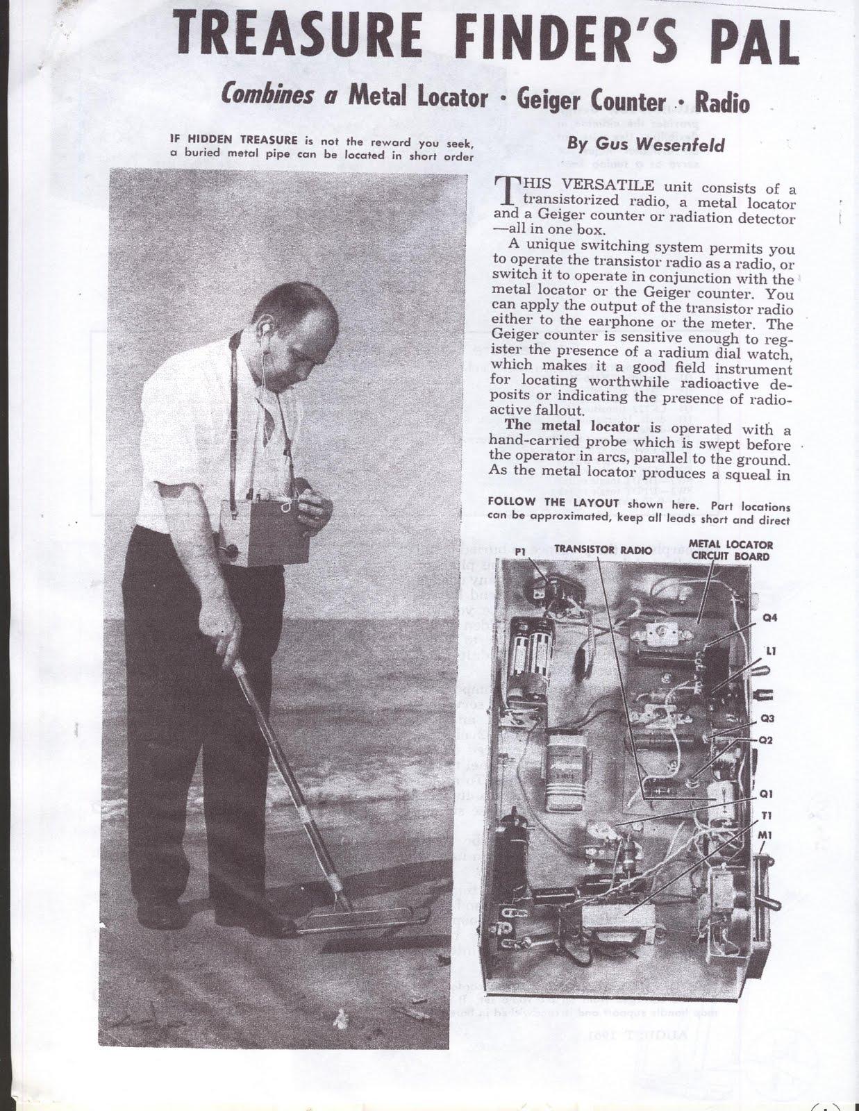 Vintage Plans Free Build Metal Detectorsfind Coins Diy Detector Circuit Coinsjewelleryrelicstreasure