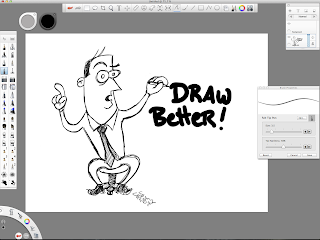Screen capture of an example drawing on Sketchbook Pro.