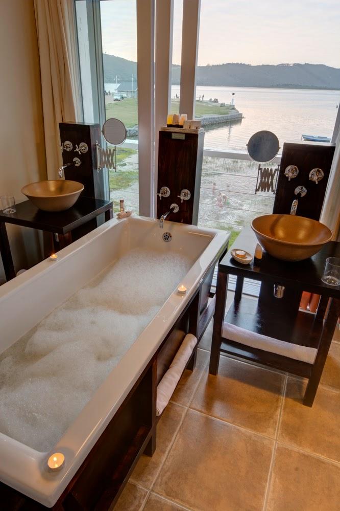 the lofts, boutique hotel, knysna, thesen harbour town, island, garden route, honeymoon destination, bath with lagoon view