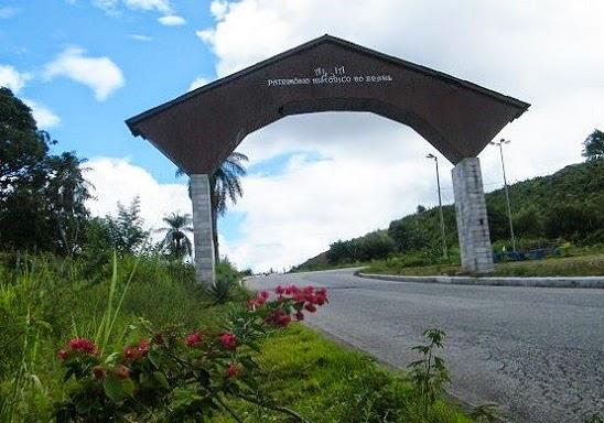 Portal de entrada da Cidade de Areia
