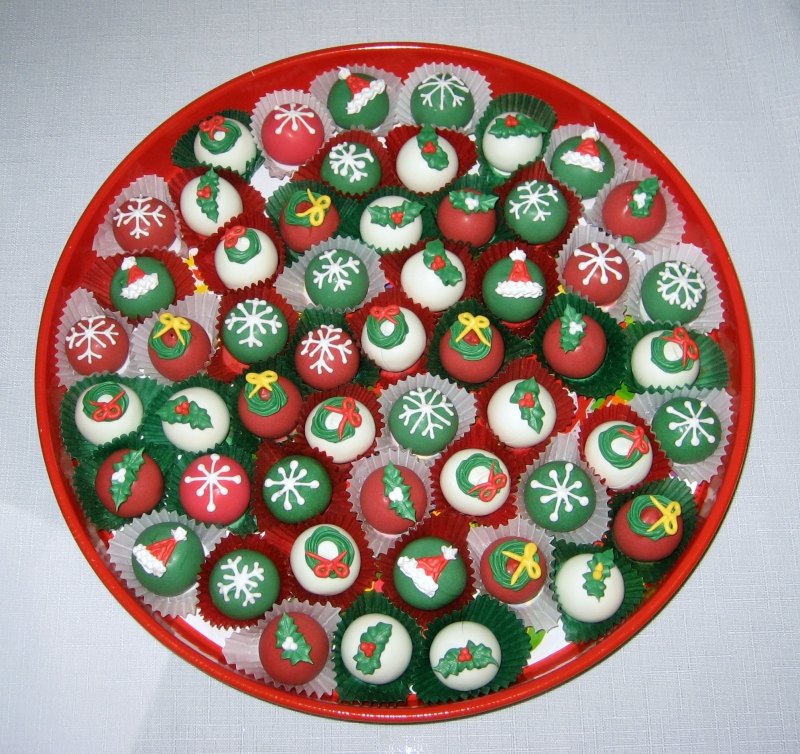 Images Of Christmas Cake Balls : Festivals Pictures: Candy Cane Cake Balls PIctures, Candy ...