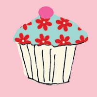 cupcake pink blue greeting cards stationery designers Liz and Pip Ltd