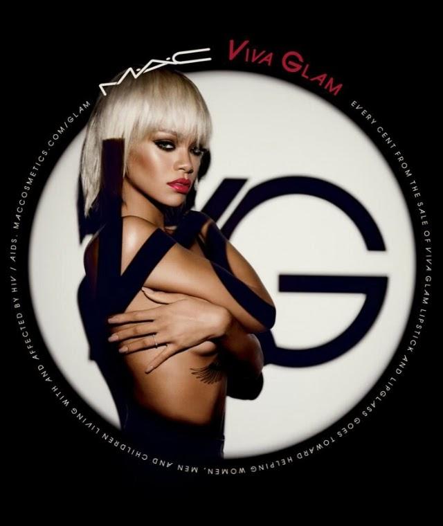 Rihanna en topless para Mac Cosmetics Viva Glam Campaign