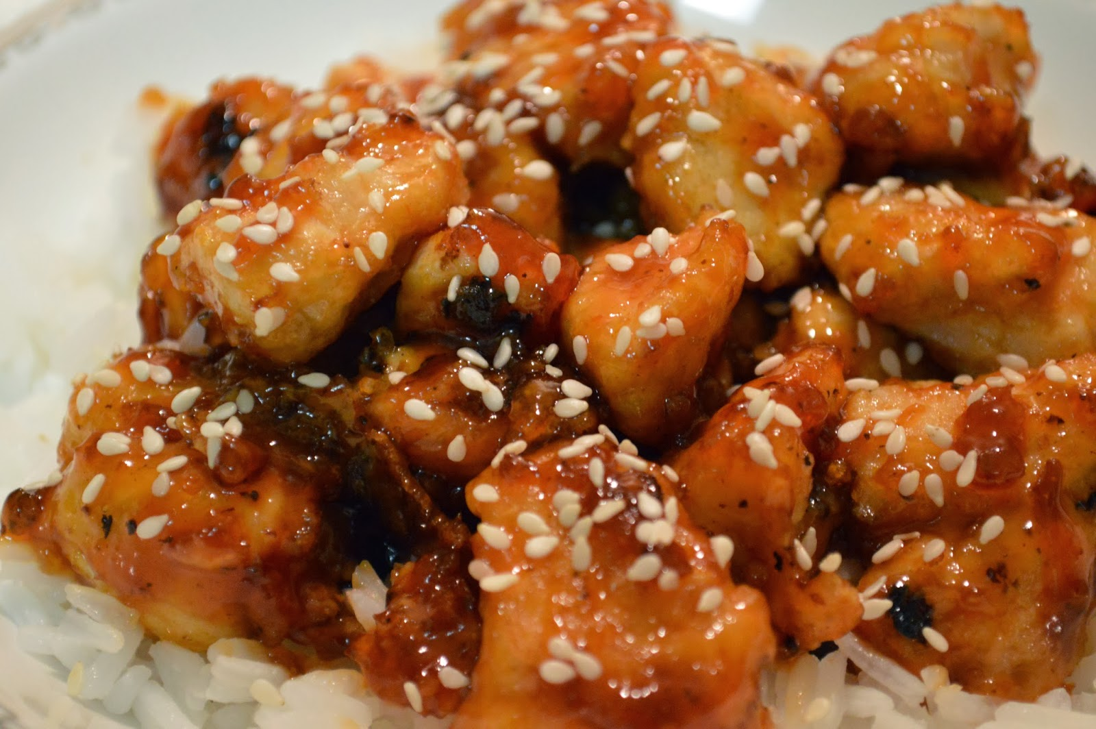 The Hungry Hood: Baked Sesame Chicken