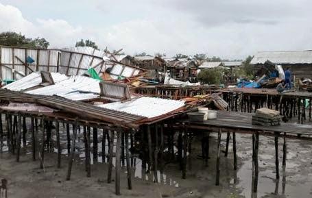 Angin Puting Beliung Merusak 79 Rumah Warga di Mandah