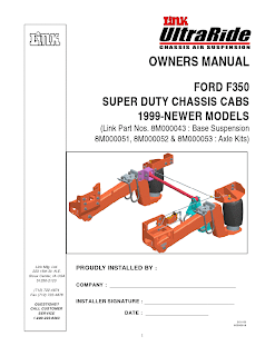 OWNERS MANUAL FORD F350 SUPER DUTY CHASSIS CABS 1999-NEWER MODELS