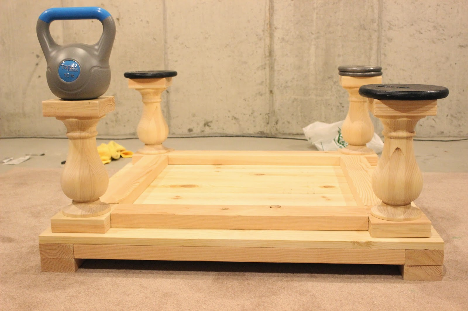 Set The Legs In 1 From Sides And Ends Use Wood Glue To Place We Then Put Weights On Top Keep Things Moving