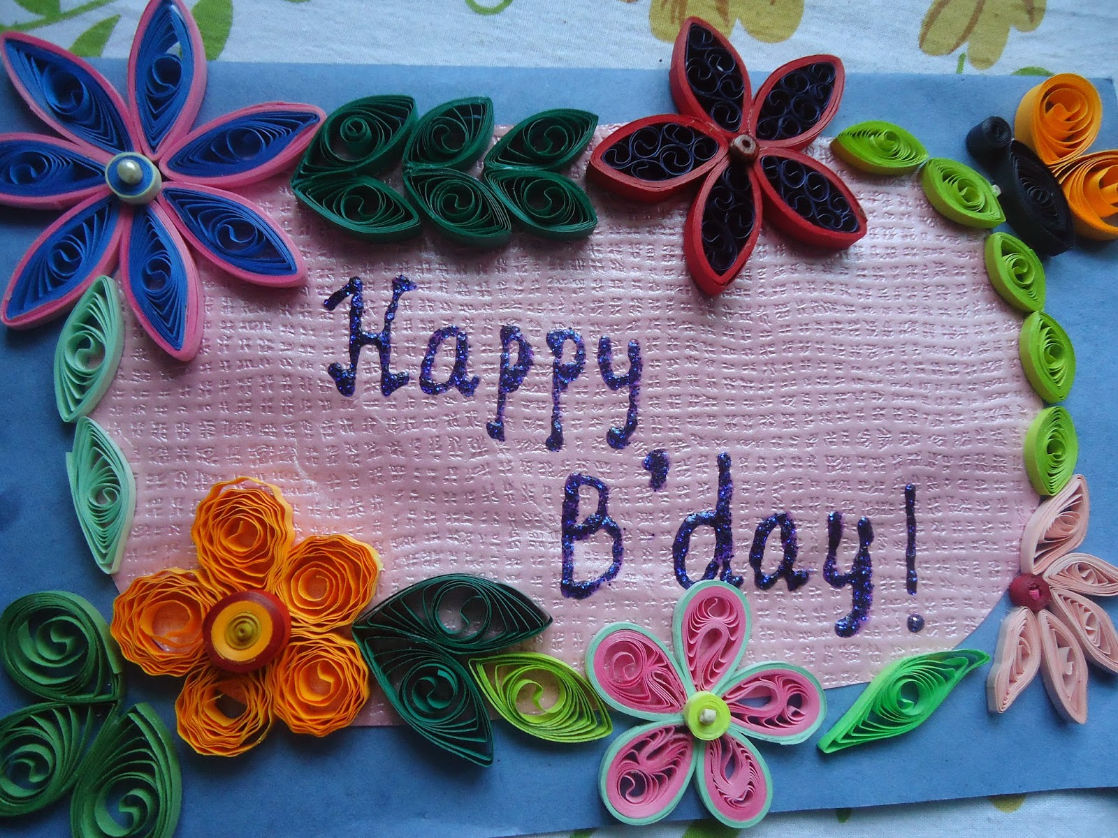 Quality Quilling Quilled Birthday Card