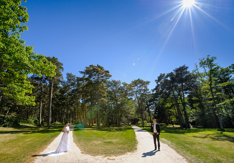 netradicinė vestuvių fotosesija