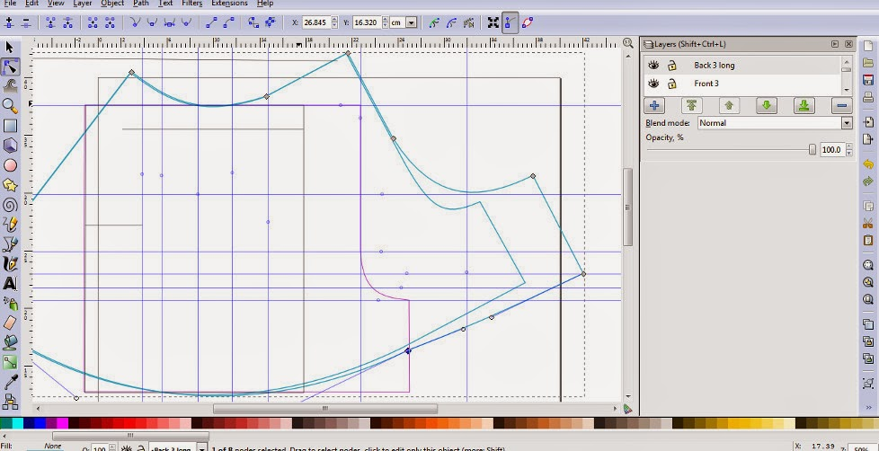 inkscape pattern drafting