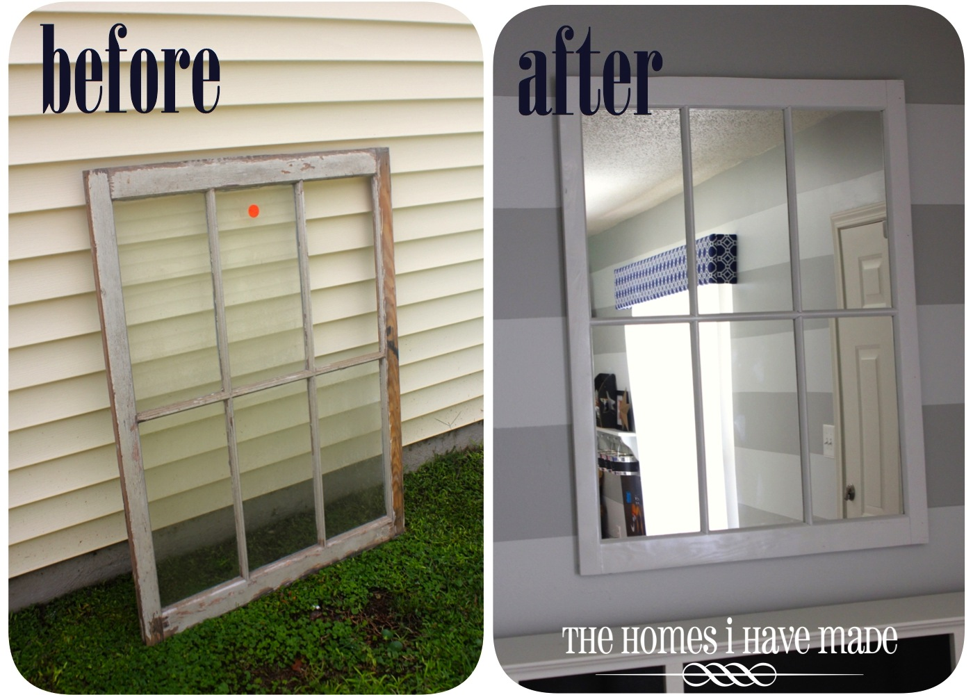 Chippy Window Turned Gorgeous Mirror | The Homes I Have Made