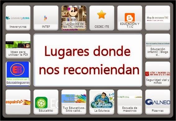 LUGARES DONDE NOS RECOMIENDAN