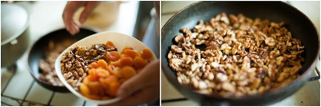 Орехи просушиваем на сковороде