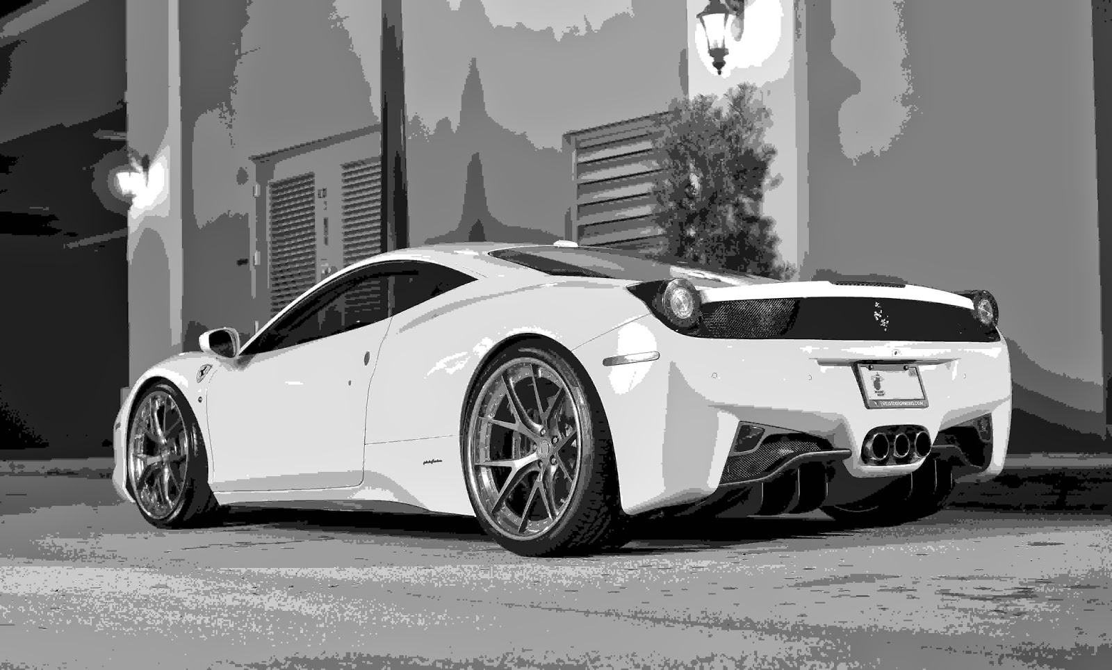 Wallpaper Ferrari 458 white