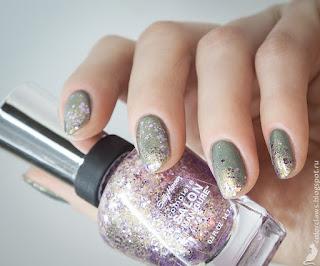 Precision Sage + Sally Hansen #706 Glitter Bomb