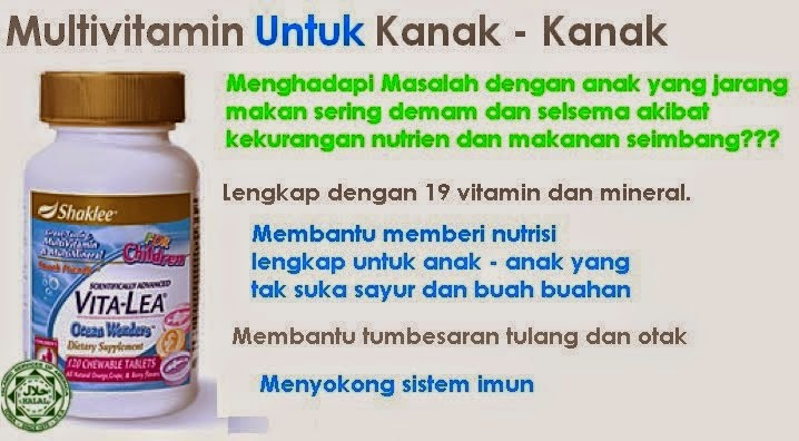 supplement kanak-kanak, vitalea for kids, vitalea for children, picky eater, anak kurang makan, multivitamin
