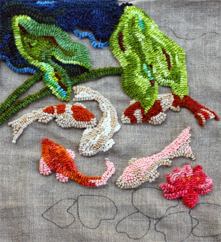 """In The Studio And Elsewhere: HOOKED RUGS AT """"RETREAT INTO"""
