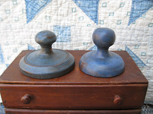 butter stamps in cupboard blue