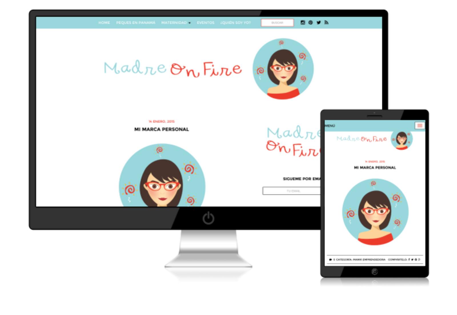 Diseño y Desarrollo del Blog de Madre On Fire