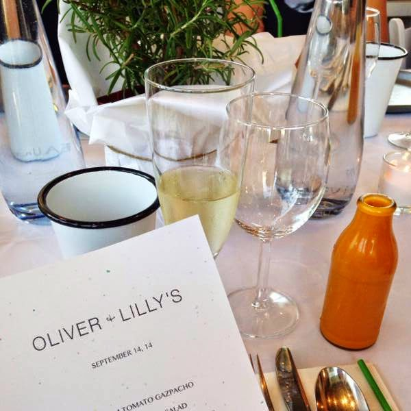 Vancouver boutique Oliver + Lilly's fall 2014 preview media dinner table setting
