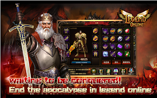 Screenshots of the Legend Online: Kingdom Dragons Wartune for Android tablet, phone.