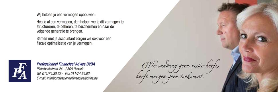 Professioneel Financieel Advies BVBA - Pietelbeekstraat 24, 3500 Hasselt - Tel. 011/74.30.22