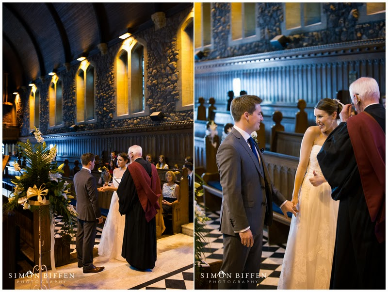 Wedding ceremony at Taunton School chapel