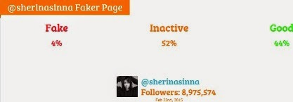 sherina fake followers