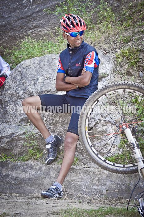 Mountain Terrain Biking, Himachal Pradesh 2011 - Day 3 - Tani Jubber to  Kullu Sarhan : Ajay Pandit Chhetri, winner of Mountain Terrain Biking 2010 as well as 2011 !!!