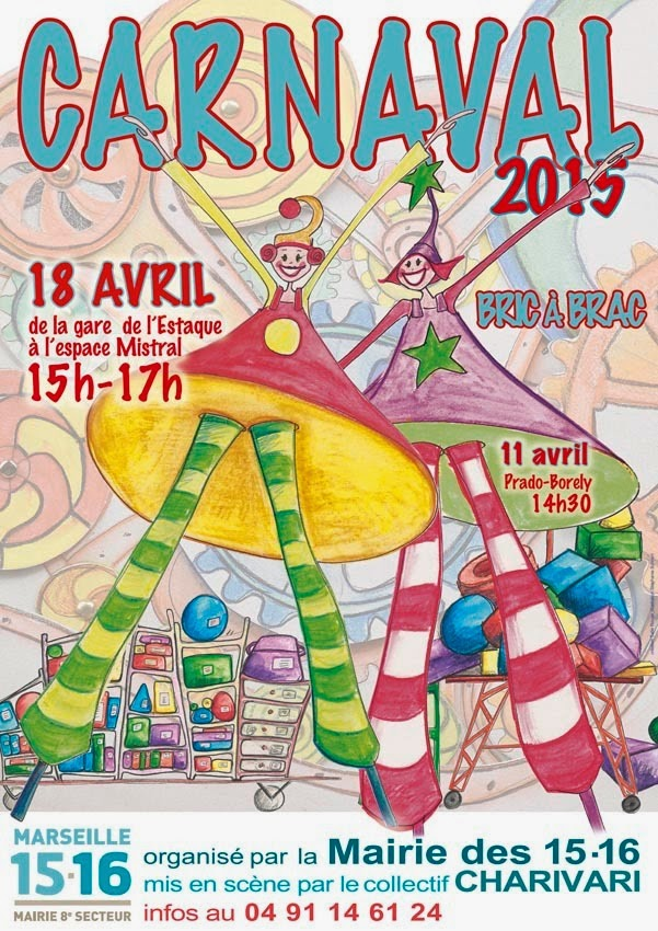 Carnaval de l'Estaque 2015 à Marseille le Samedi 18 Avril !