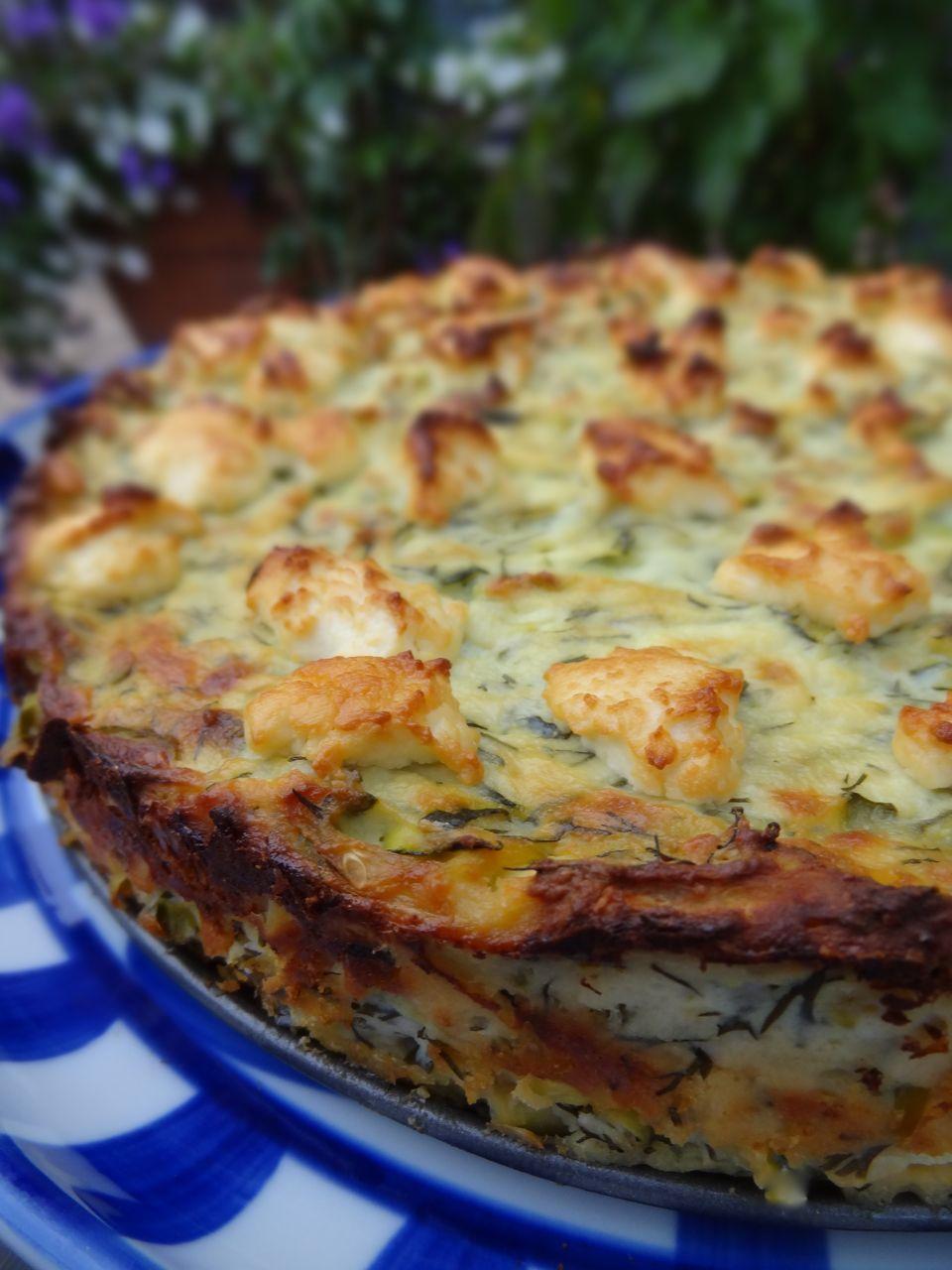Scrumpdillyicious: Zucchini Ricotta Savoury Cheesecake