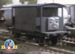 Thomas the tank engine character brake van wagons railroad caboose cars US or railway guard's van UK