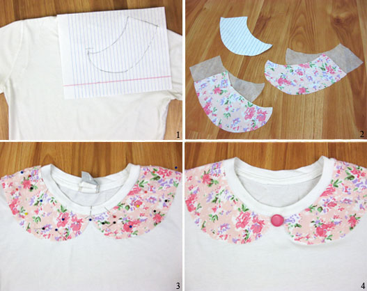 how to make a peter pan collar shirt