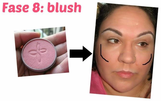 fase 8: applicazione del blush ecobio