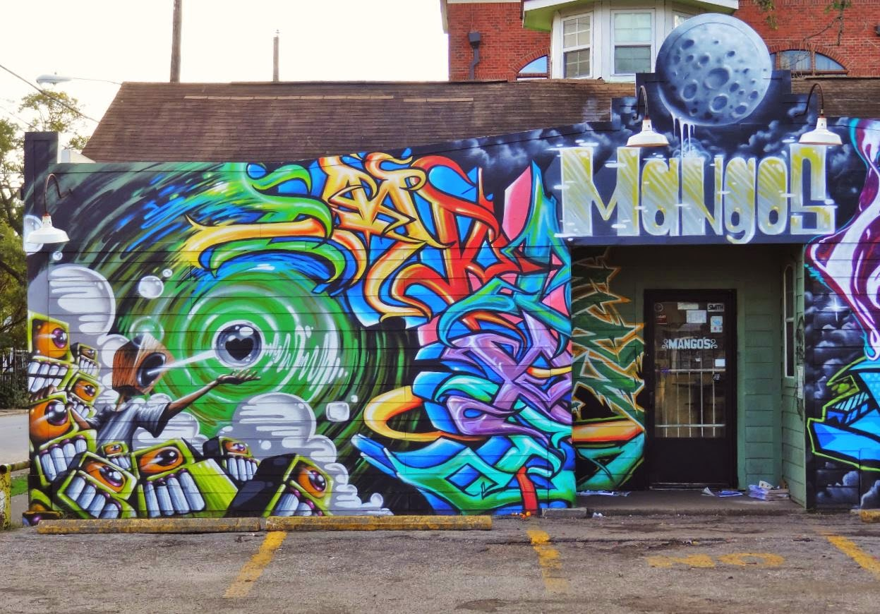 Muralism houston style art walls in downtown midtown for 6 blocks from downtown mural