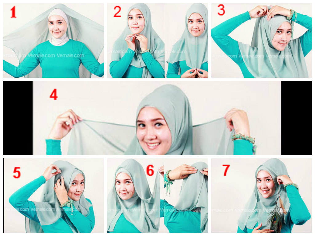 NEW TUTORIAL HIJAB SEGI EMPAT SIMPLE TAPI ELEGAN Hijab Tutorial