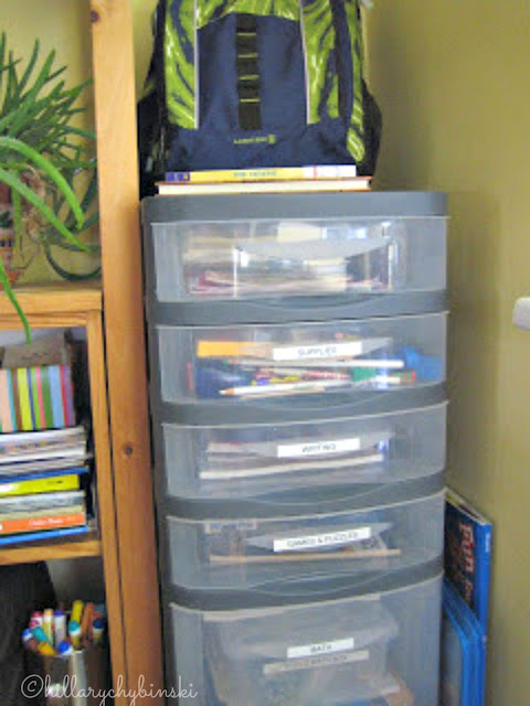 The ultimate Homework Cart - everything you need to get homework done, int he place where your kids do their homework.