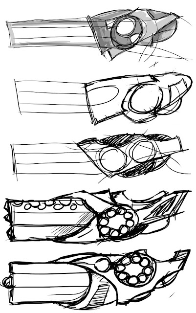Rapier cannon concept sketches