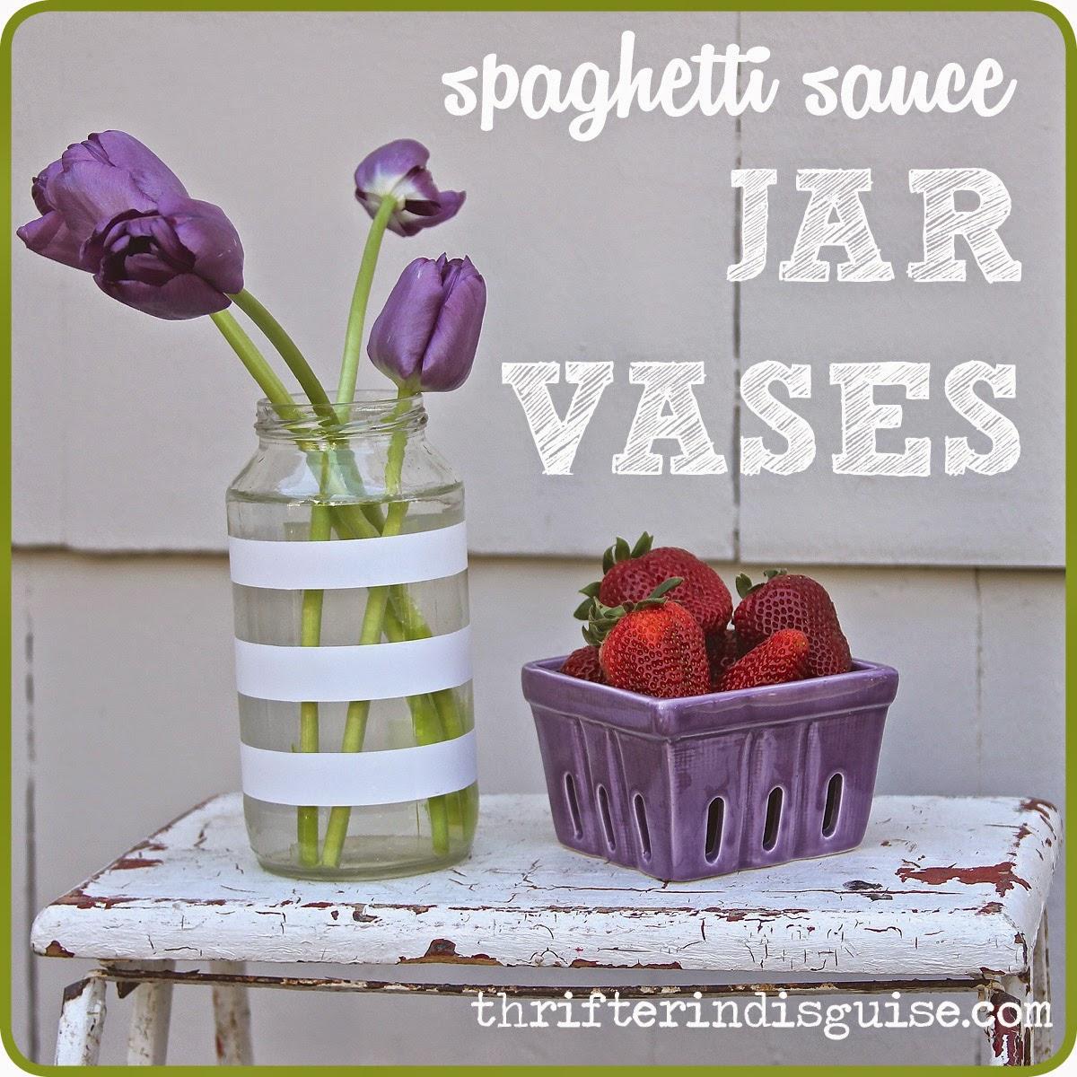 Upcycled Spaghetti Sauce Jars