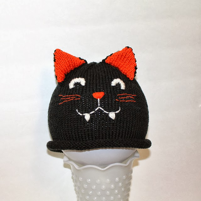 The knitting needle and the damage done halloween knitting for little monsters - Free cat hat knitting pattern ...