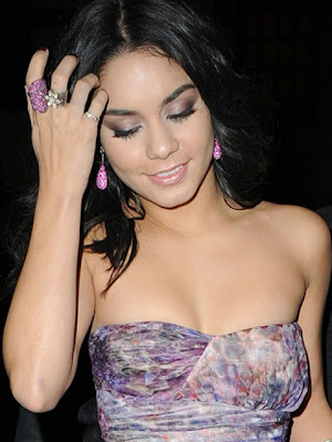 Vanessa Hudgens Dangling Gemstone Earrings