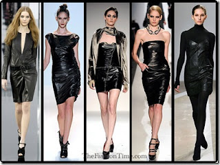 imagens de vestidos de couro