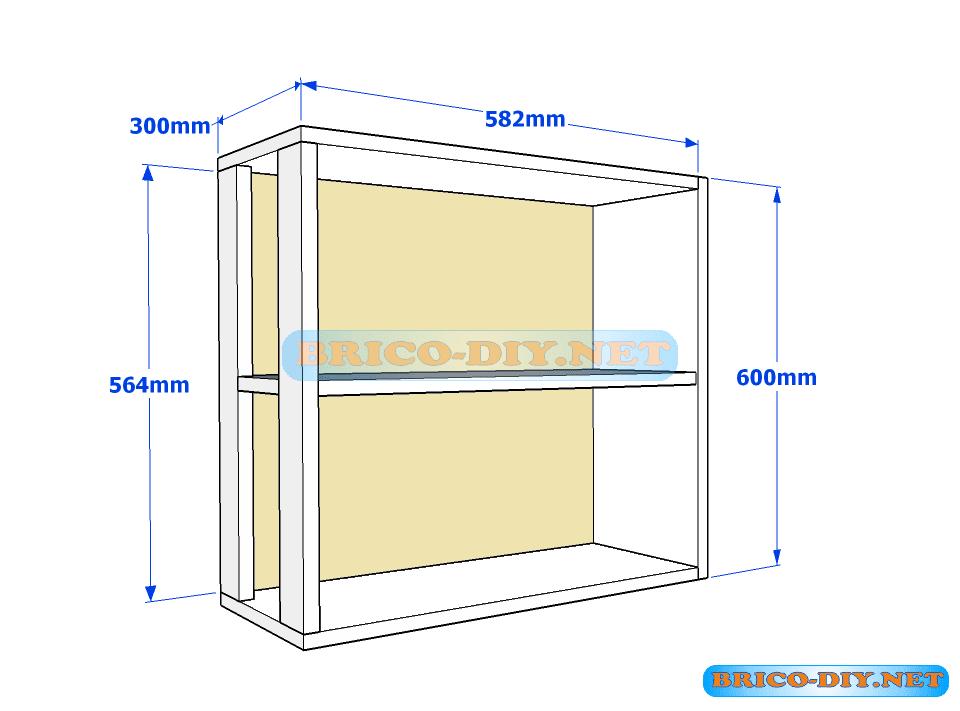 Muebles de cocina plano de alacena de melamina esquinera for Como hacer muebles para cocina