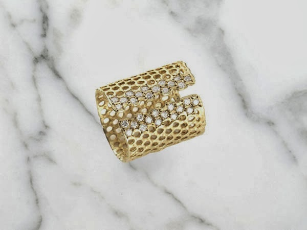 Lara Melchior Honeycomb Ring