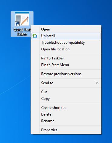 disinstallare programmi con un click