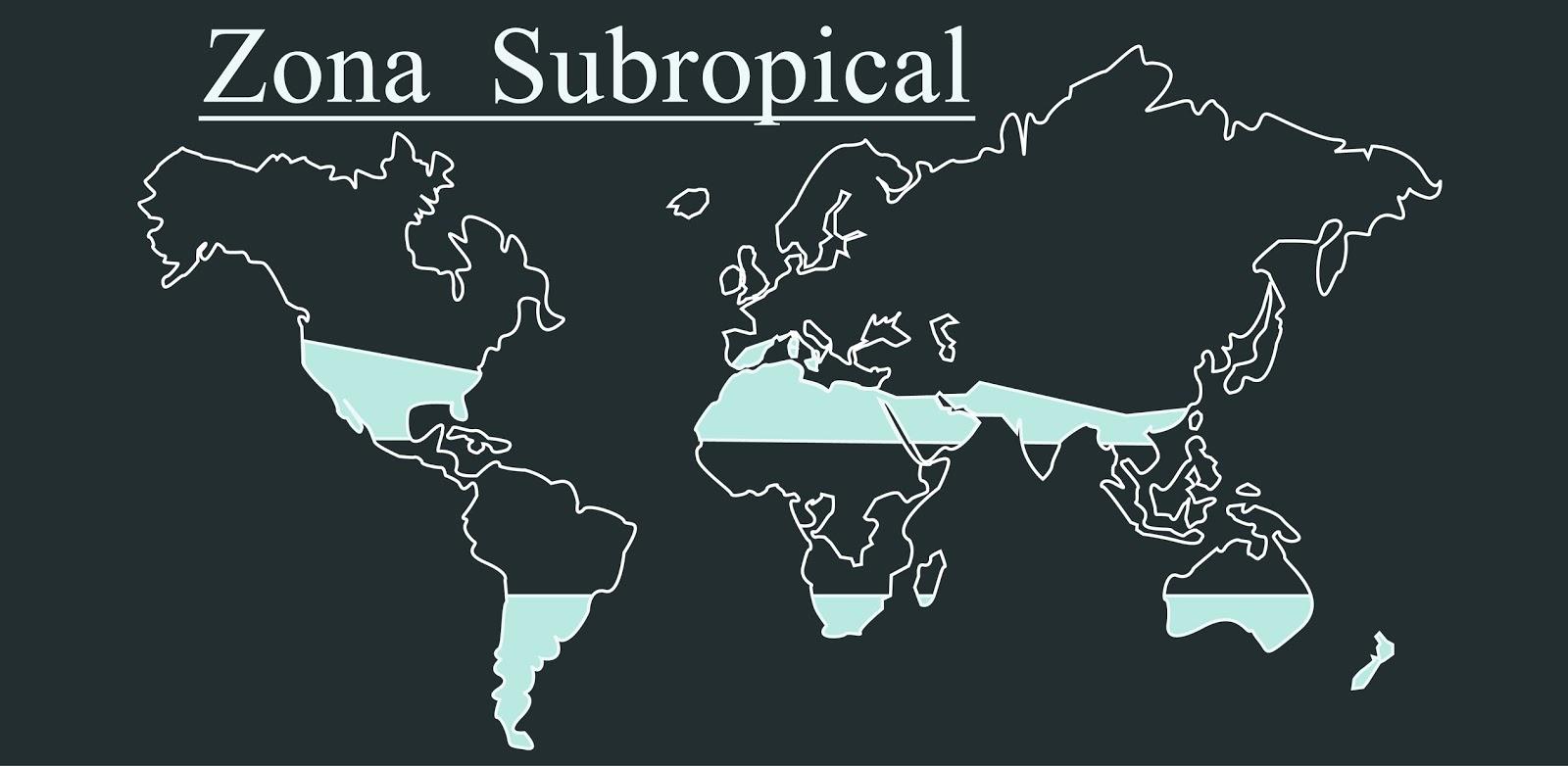 cartel zona subtropical