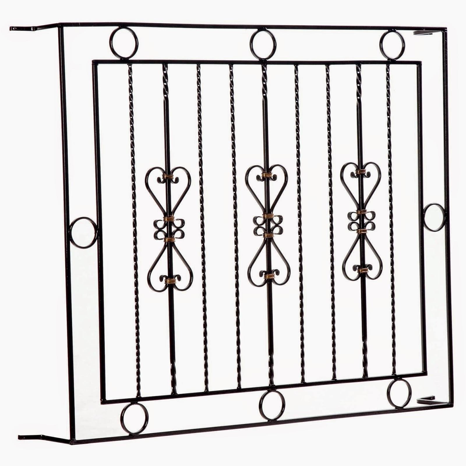 #6C5A4F serralheria madefer: modelos de grades e portão 4118 Grade Aluminio Para Janela